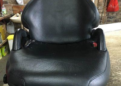 forklift seat re-trim