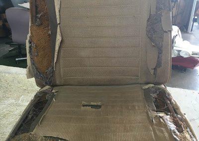 vw combi seat damaged