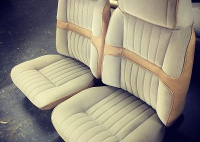 XC Ford front seats re-trimmed in Fairmont