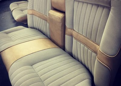 XC Ford rear seats re-trimmed in Fairmont