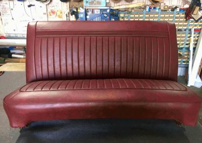 VC Valiant Bench Seat Re-trim in suburban Adelaide