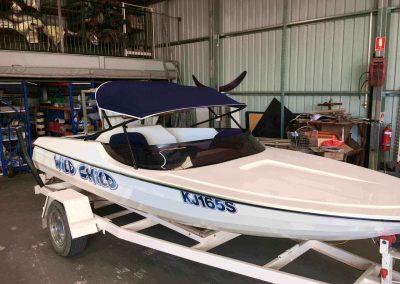 Bimini Top Ski Boat