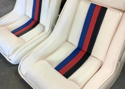 Camero Ski Boat Re-trim of Front Seats